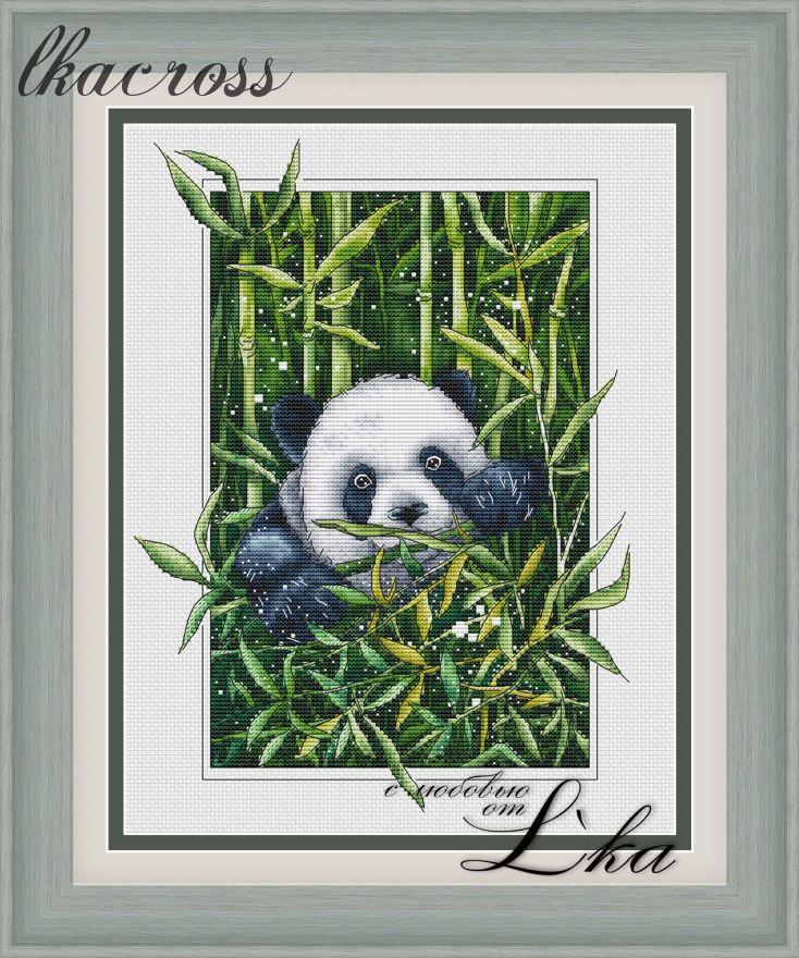 """""""Панда"""". Схема/набор для вышивания крестиком."""