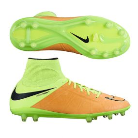 Nike HyperVenom Phantom II Leather FG SR золотисто-салатовые