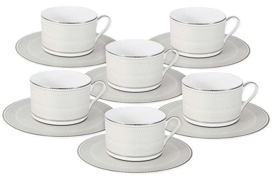 "Чайный набор на 6 персон ""Жемчуг"", 12 пр., 0.25 л"