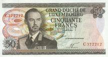 Банкнота Люксембург 50 франков 1972 г