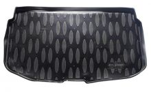 Коврик (поддон) в багажник, Элерон, полиуретан, черный с бортиками, на хэтч