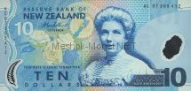 Банкнота Новая Зеландия 10 долларов 2007 год