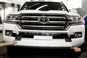 Защита переднего бампера Тип - 1 для Toyota Land Cruiser 200 2015