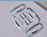 """Хромированные накладки под ручки """"чашки"""" (Тип 1) для Toyota Land Cruiser 200 2015"""