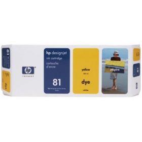 Картридж оригинальный Hewlett-Packard 81 желтый C4933A