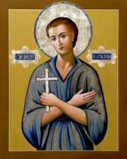 Икона Иоанн Русский (рукописная)