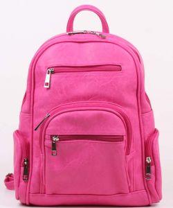 Малиновый женский рюкзак