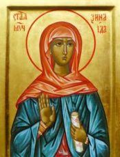 Зинаида Тарсийская (рукописная икона)