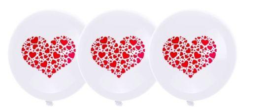 Сердечко латексные шары с гелием