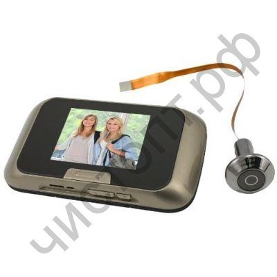"Видеодомофон VD-353 Экран 2.8"" Размер: 136 х 75см камера 0,3Мр Режим фото макс 640*480 / Режим видео макс до 10с 3*АА Диаметр глазка: 30мм Запись на карту памяти TF (micro SD)"