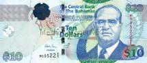 Банкнота Багамские острова 10 долларов 2009 год