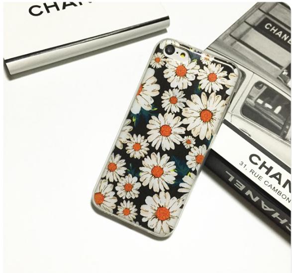 Силиконовый чехол для iphone 6/6s с ромашкой