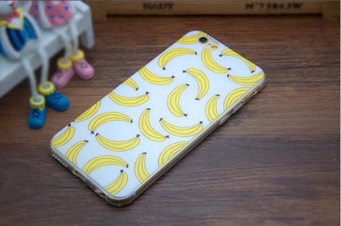 Силиконовый чехол для Iphone 6/6s с бананом