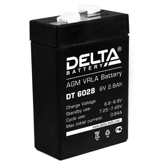 Аккумулятор свинцово-кислотный АКБ DELTA (Дельта) DT 6028 6 Вольт 2.8 Ач