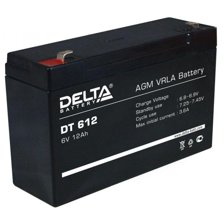 Аккумулятор свинцово-кислотный АКБ DELTA (Дельта) DT 612 6 Вольт 12 Ач