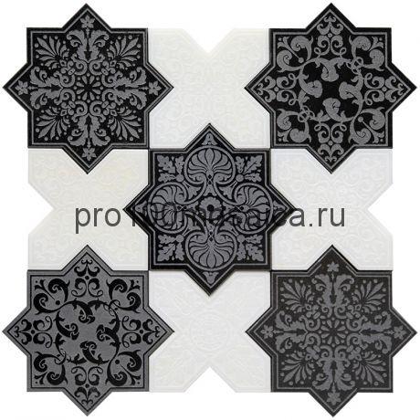 PNT (BLACK-WHITE) Мозаика  серия PANTHEON, размер, мм: 203*92*10 (Skalini)