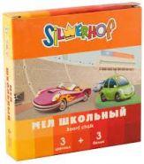 """Мел школьный цветной """"Happy Cars"""" (набор из 3 бел.+3 цв.) карт.коробка (арт. 883009-06)"""