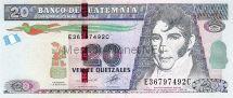 Банкнота Гватемала 20 кетцаль 2011 г