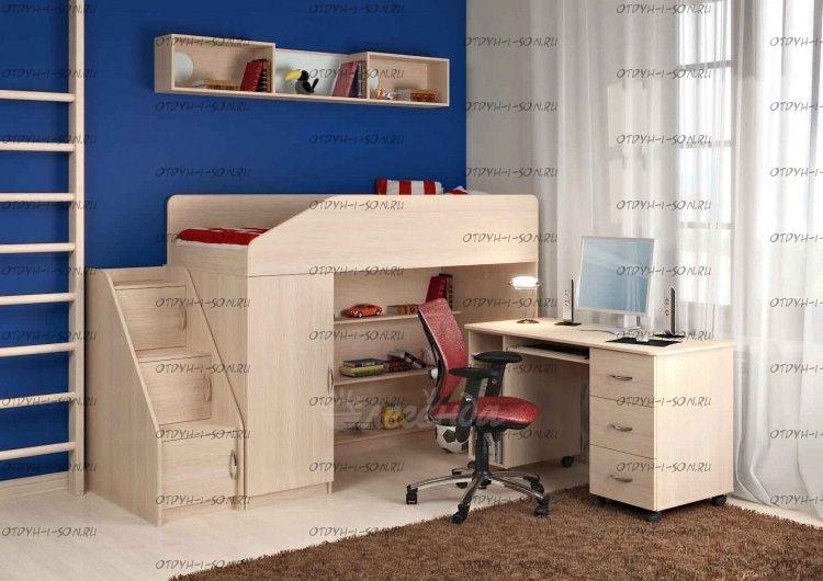 Кровать-чердак Легенда-11.5 со столом