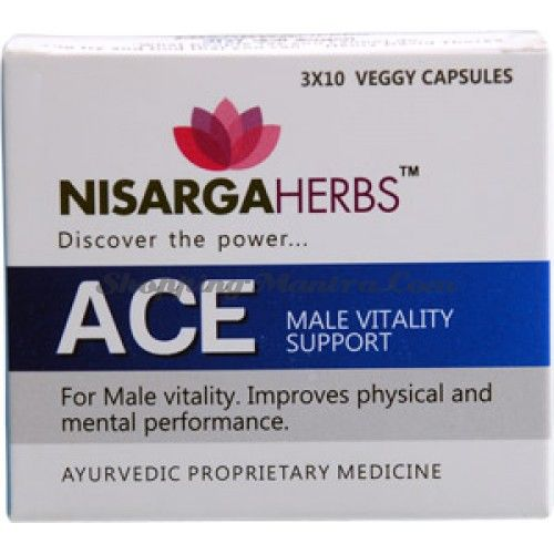 Эйс препарат для мужчин Нисарга Хербс / Nisarga Herbs Ace Capsules
