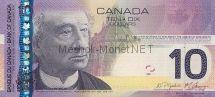 Банкнота Канада 10 долларов 2005 год