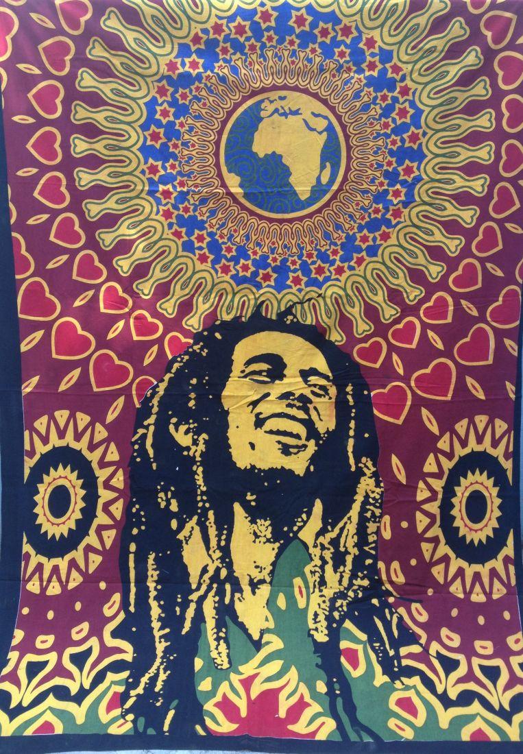 Большое полотно / покрывало с Бобом Марли (отправка из Индии)