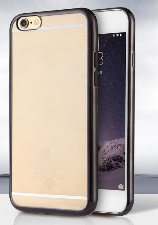 Силиконовый чехол для iphone 6/6s с черным ободком