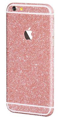 Наклейка-блестяшка для iPhone 7/8 розовый