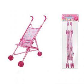 Коляска для куклы 1Toy Прогулочная темно-розовая