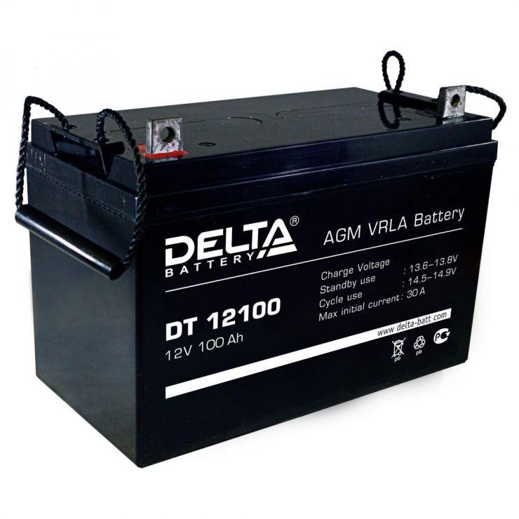 Аккумулятор свинцово-кислотный АКБ DELTA (Дельта) DT 12100 12 Вольт 100 Ач