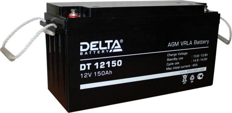 Аккумулятор свинцово-кислотный АКБ DELTA (Дельта) DT 12150 12 Вольт 150 Ач