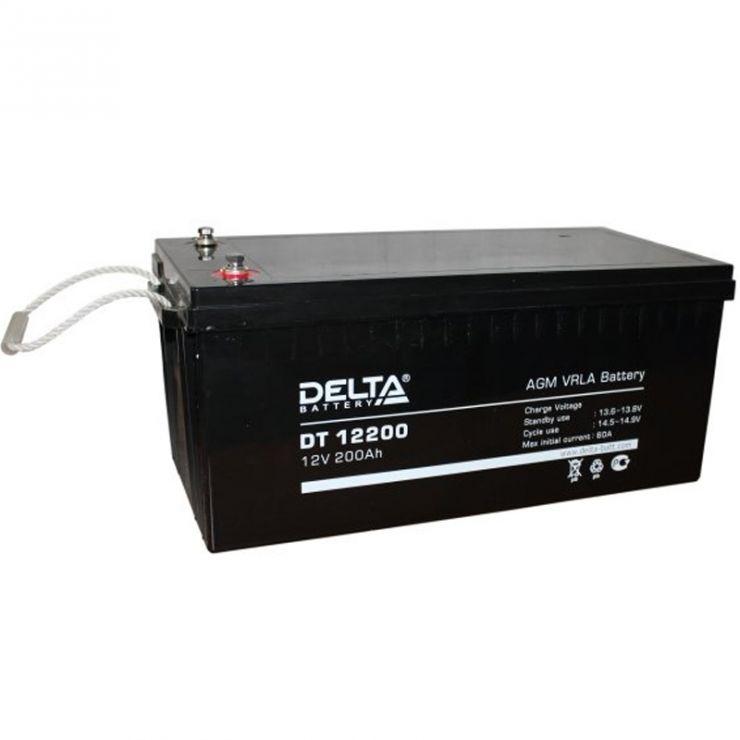 Аккумулятор свинцово-кислотный АКБ DELTA (Дельта) DT 12200 12 Вольт 200 Ач
