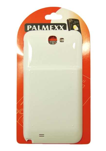 Аккумулятор повышенной емкости для Samsung N7100 Galaxy Note2 (6400mAh) белый
