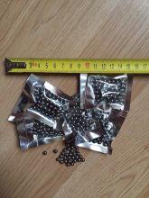 Шар стальной (снаряд для рогаток и пневматического оружия), диаметр 5,55 мм,  вес 0,8 грамм, упаковка 50 штук