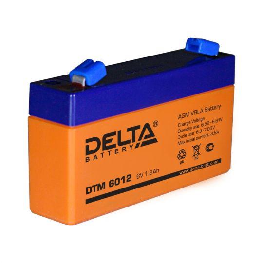 Аккумулятор свинцово-кислотный АКБ DELTA (Дельта) DTM 6012 6 Вольт 1.2 Ач