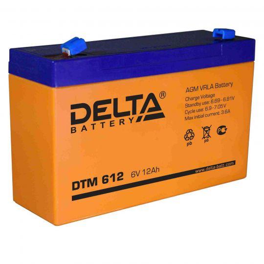 Аккумулятор свинцово-кислотный АКБ DELTA (Дельта) DTM 612 6 Вольт 12 Ач