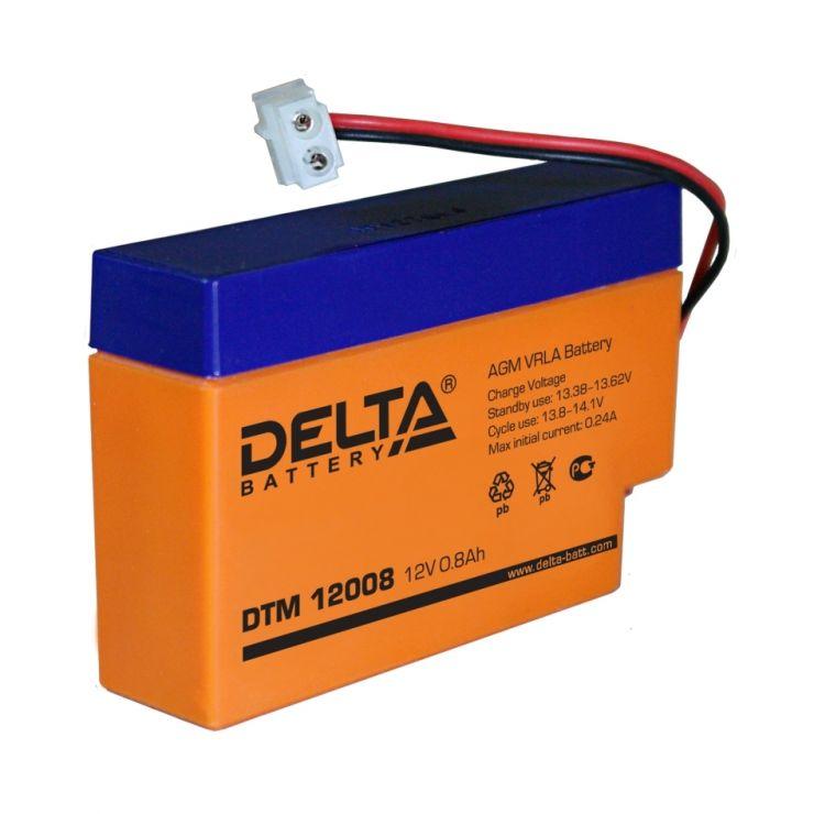 Аккумулятор свинцово-кислотный АКБ DELTA (Дельта) DTM 12008 12 Вольт 0.8 Ач
