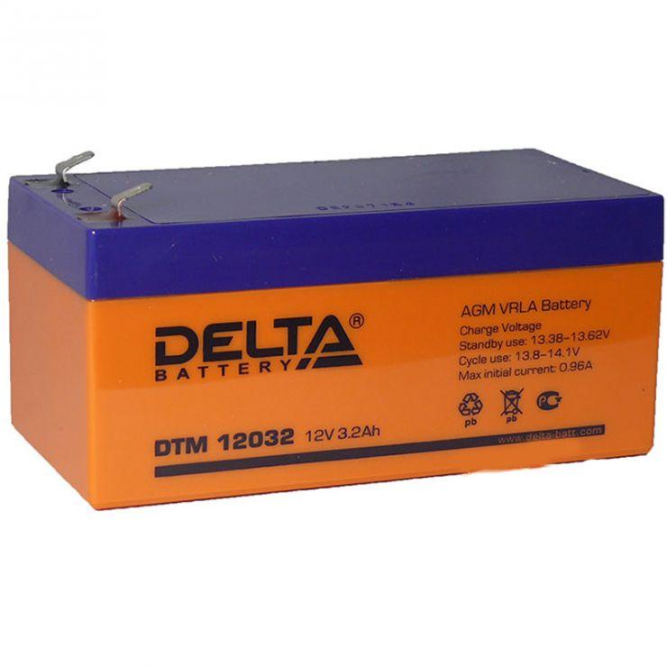 Аккумулятор свинцово-кислотный АКБ DELTA (Дельта) DTM 12032 12 Вольт 3.2 Ач
