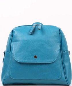 Бирюзовый рюкзак из экокожи