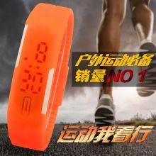 Часы силиконовые светодиодные Спортивные Оранжевые