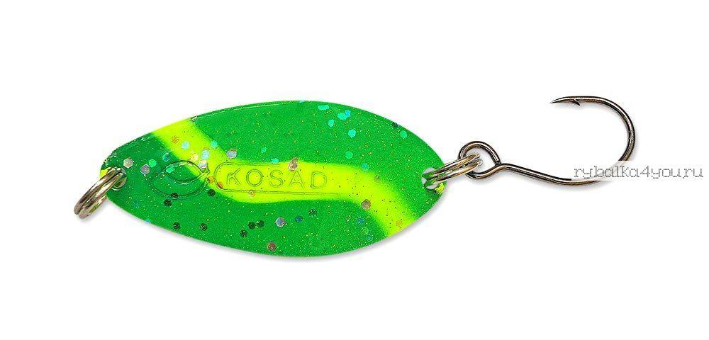 Купить Блесна Kosadaka Buggy (одинарный крючок) 32 мм / 4,5 гр цвет GO