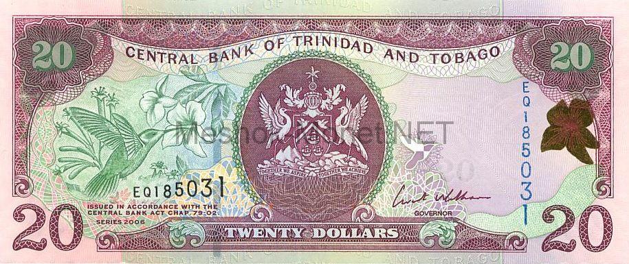 Банкнота Тринидад и Тобаго 20 долларов 2006 год