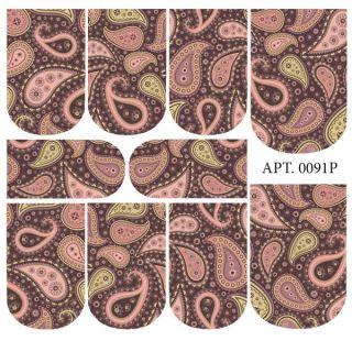 Слайдер-дизайн для ногтей № 0091
