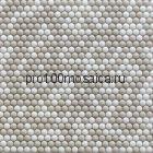 Pixel cream Мозаика D12 мм  LUX, 325*318*6 мм, (Bonaparte)