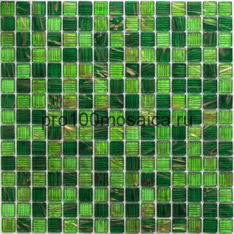 Verde стекло. Мозаика 20*20 серия GOLDEN, размер, мм: 327*327*4 (Bonaparte)
