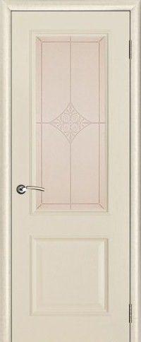 Версаль со стеклом Ромб патина ваниль (тон 20)