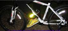 Светоотражающие ленты браслеты для велосипедистов