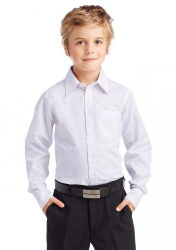 Рубашка однотонная детская 6-16 лет №RD001