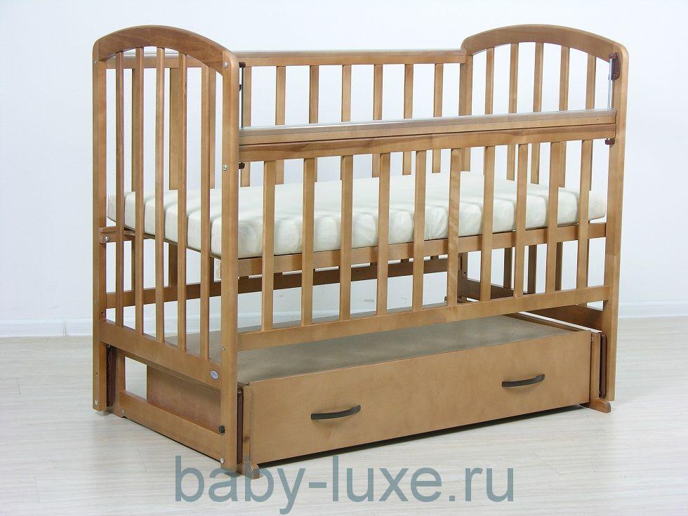Кроватка детская Фея 311 маятник/ящик