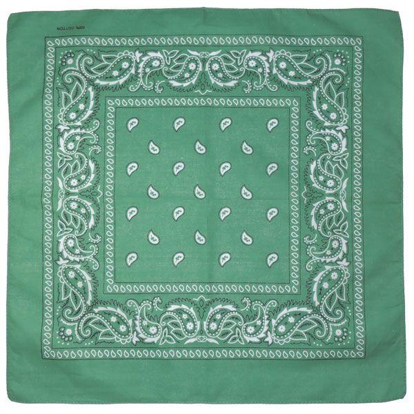 Бандана огурцы в квадрате (темно-зеленая)